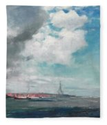 New Brighton From The Mersey Fleece Blanket