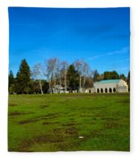 New Clairvaux Abbey Fleece Blanket