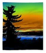 New Dawn In Spokane Fleece Blanket