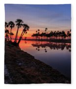 New Day At Econ River Fleece Blanket