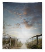 New Day At The Beach Fleece Blanket