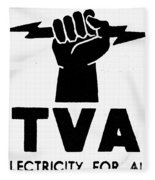 New Deal: Tva Symbol Fleece Blanket