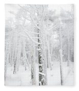 New England - Snow Covered Forest Fleece Blanket