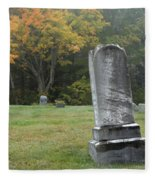 New England Graveyard During The Autumn  Fleece Blanket