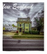 New England Home 3  Fleece Blanket