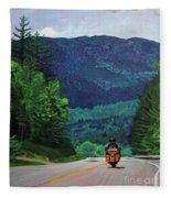 New England Journeys - Motorcycle 2 Fleece Blanket