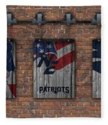 New England Patriots Brick Wall Fleece Blanket