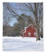 New England Red House Winter Fleece Blanket