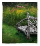 New England Summer Rustic Fleece Blanket
