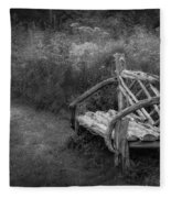 New England Summer Rustic Bw Fleece Blanket