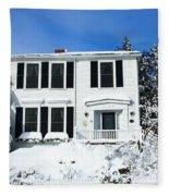 New England Winter Fleece Blanket