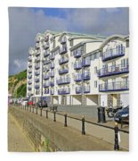 New Flats Overlooking Sandown Esplanade Fleece Blanket