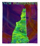 New Hampshire Map Fleece Blanket