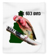 New Hampshire State Bird The Purple Finch Fleece Blanket