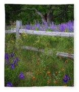 New Hampshire Wildflowers Fleece Blanket