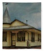 New Hope Train Station Fleece Blanket