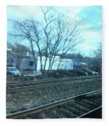 New Jersey From The Train 4 Fleece Blanket