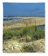 New Jersey Inlet  Fleece Blanket