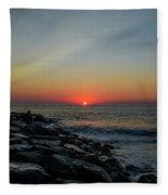 New Jersey Shore - Townsends Inlet Fleece Blanket