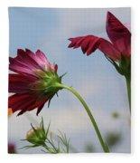 New Jersey Wildflowers In The Wind Fleece Blanket