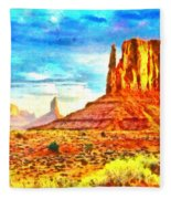 New Mexico Beautiful Desert - Pa Fleece Blanket