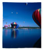 New Mexico Hot Air Balloons Fleece Blanket