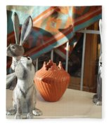 New Mexico Rabbits Fleece Blanket