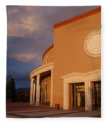 New Mexico State Capital Building Fleece Blanket