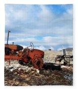 New Mexico Tractor Fleece Blanket