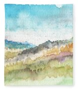 New Morning- Watercolor Art By Linda Woods Fleece Blanket