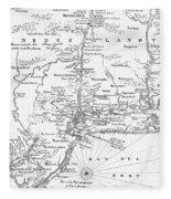 New Netherlands 1656 Fleece Blanket