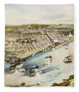 New Orleans, 1851 Fleece Blanket