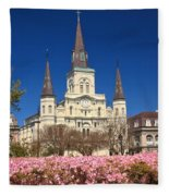 Jackson Square New Orleans Fleece Blanket