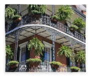 New Orleans Balcony Fleece Blanket
