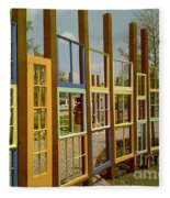 New Orleans Closed Door And A Window Of Many Views Fleece Blanket