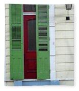 New Orleans Door 11 Fleece Blanket