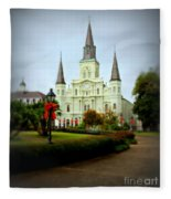 New Orleans Holiday Fleece Blanket