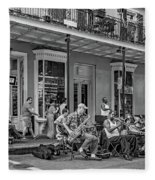New Orleans Jazz 2 - Bw Fleece Blanket