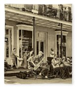 New Orleans Jazz 2 - Sepia Fleece Blanket