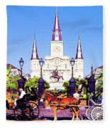 New Orleans Fleece Blanket