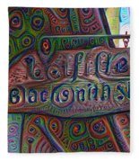 New Orleans - Lafittes Blacksmith Shop Sign Fleece Blanket