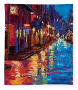 New Orleans Magic Fleece Blanket