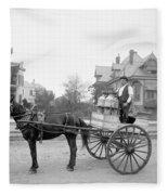 New Orleans: Milk Cart Fleece Blanket