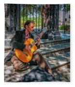 New Orleans Musician - Chris Craig Fleece Blanket