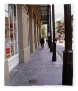 New Orleans Sidewalk 2004 Fleece Blanket