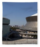 New Orleans Sports And Entertainment Complex Fleece Blanket