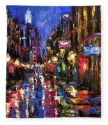 New Orleans Storm Fleece Blanket