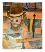 New Orleans Street Musician Fleece Blanket