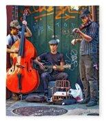 New Orleans Street Musicians Fleece Blanket