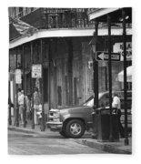 New Orleans Street Photography 2 Fleece Blanket
